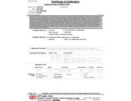 Certificat d'étalonnage traçable NIST (inclus)