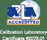 Certificat de laboratoire d'étalonnage accrédité AZLA # 2073.01